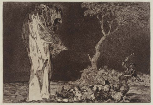 Goya — Soldiers Frightened By a Phantasm